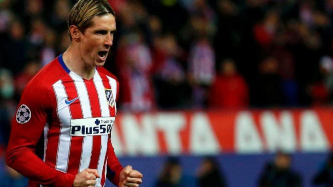 Penyerang Atletico Madrid, Fernando Torres.