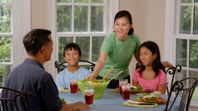 Ilustrasi keluarga.
