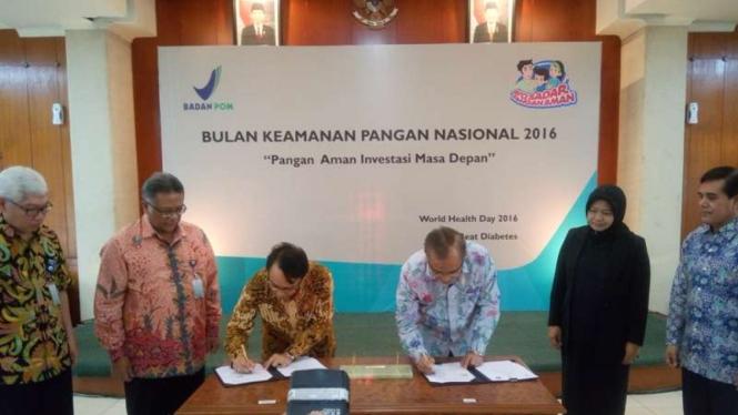 Penandatanganan Kerjasama BPOM dan IPB, 15 April 2016.
