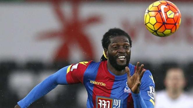 Emmanuel Adebayor ketika membela Crystal Palace.