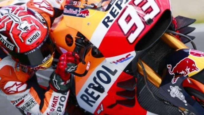 Pembalap Repsol-Honda, Marc Marquez.