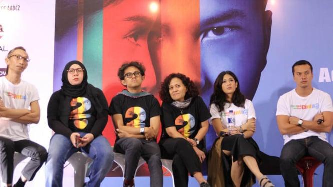 konferensi pers film AADC 2