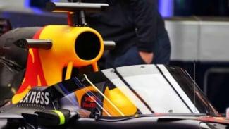 Pelindung kokpit di mobil F1 Red Bull