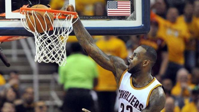 Bintang Cleveland Cavaliers, LeBron James.