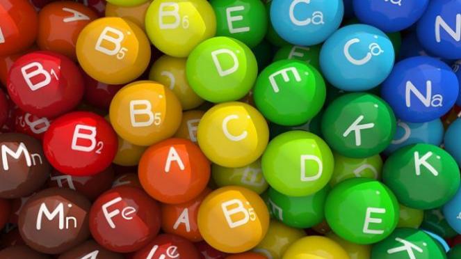 Ilustrasi aneka jenis vitamin.