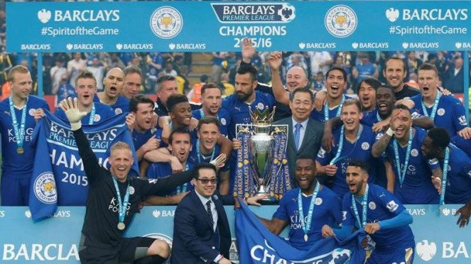 Leicester City juara Premier League 2015/2016.