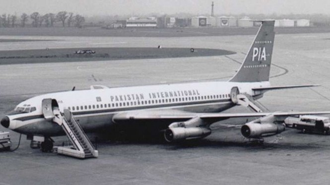 Pakistan Airways, sebelum kecelakaan di bandara Kairo, Mesir, tahun 1965.