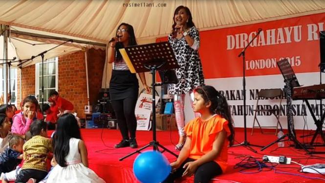 Ana dan Fia hibur masyarakat Indonesia di London.