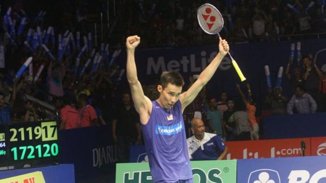 Lee Chong Wei Raih Juara Tunggal Putra Indonesia Open 2016