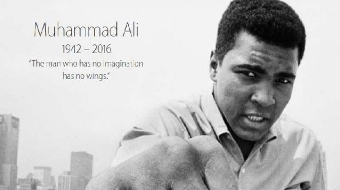 Tampilan duka situs Apple atas meninggalnya Muhammad Ali