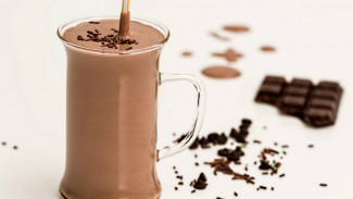 Susu cokelat.