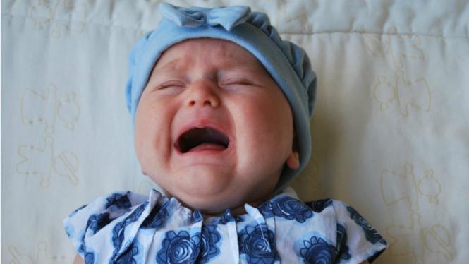 Ilustrasi anak menangis.