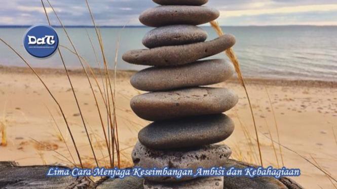 Ilustrasi menjaga keseimbangan.