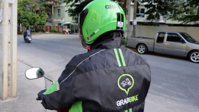 Driver Grab Bike (Foto Ilustrasi).