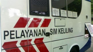 Ilustrasi bus pelayanan SIM keliling.