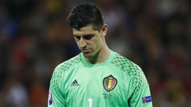 Kiper Belgia milik Chelsea, Thibaut Courtois.