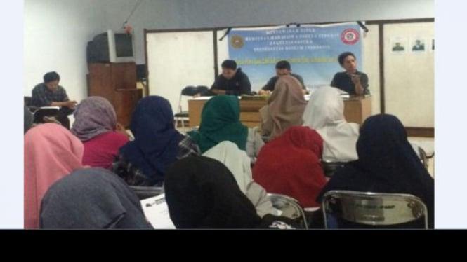 Hari pertama saat berlangsungnya Mubes HIMSI UMI, Makassar.
