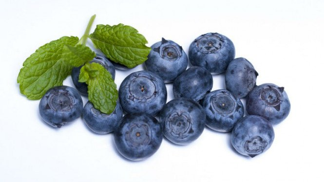 Buah blueberry.