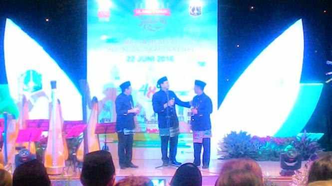 Gubernur DKI Jakarta, Basuki Tjahaja Purnama hadiri HUT DKI