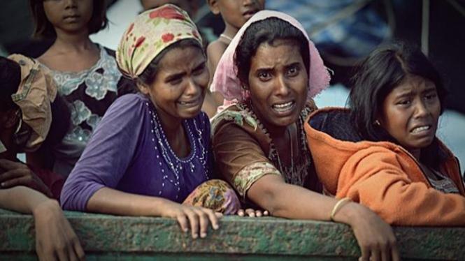Ilustrasi/Penduduk Muslim Rohingya di Myanmar.