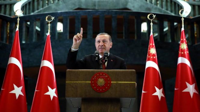 Erdogan Sebut Penembakan Masjid di Selandia Baru Bentuk Islamofobia