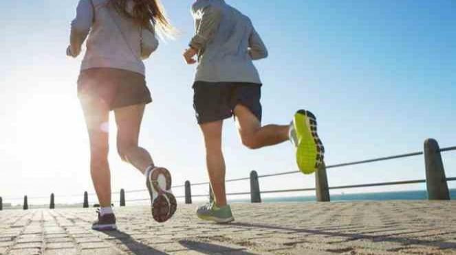 Ilustrasi olahraga lari.
