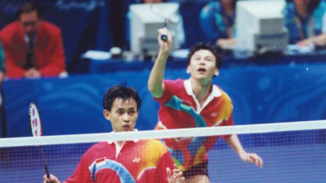 Ganda putra Indonesia, Candra Wijaya/Tony Gunawan pada Olimpiade Sydney 2000