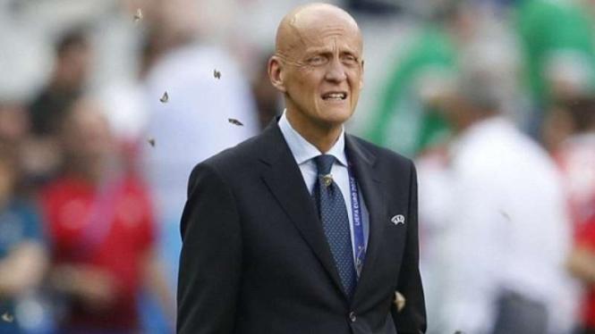 Ketua Komite Wasit UEFA, Pierluigi Collina.