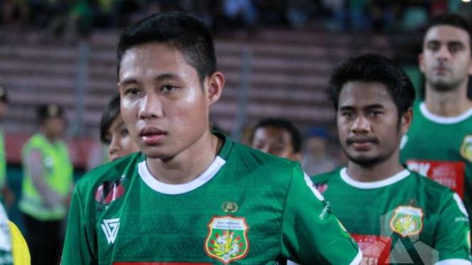 Evan Dimas dan Ilham Udin saat membela Bhayangkara FC.