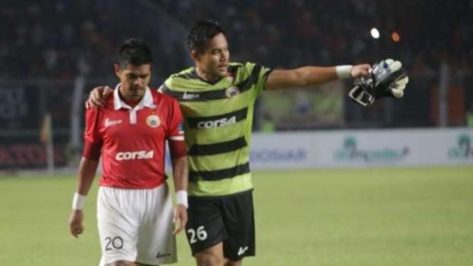 Pemain Persija Jakarta, Andritany Ardhiyasa (kanan)