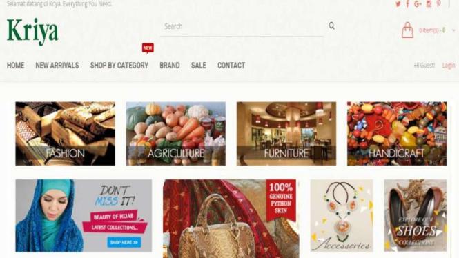 Situs e-Commerce untuk UKM Lokal