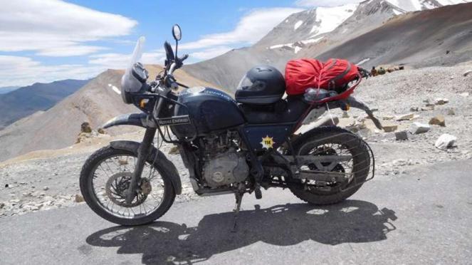 Sepeda motor Royal Enfield Himalayan yang menemani VIVA.co.id selama perjalanan.