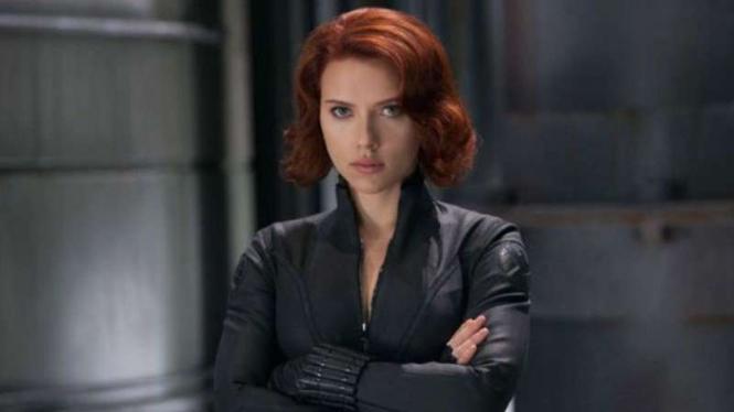 Scarlett Johansson saat memerankan Black Widow di film Avengers