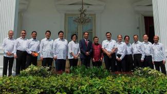 Para menteri hasil reshuffle kabinet jilid dua pada 2016 lalu.