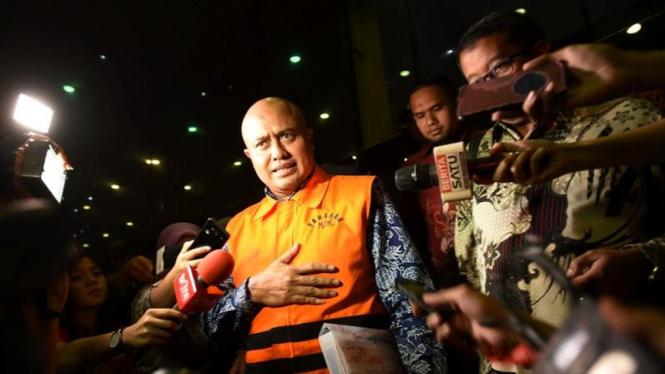 Politikus Partai Demokrat, I Putu Sudiartana jadi tahanan KPK.