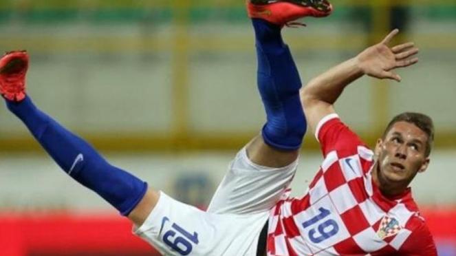 Marko Pjaca saat membela timnas Kroasia.