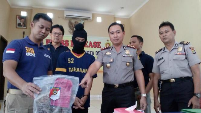 Pelaku pembunuhan di Kota Depok Jawa Barat