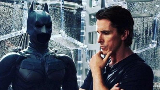 Christian Bale di Batman The Dark Knight Rises