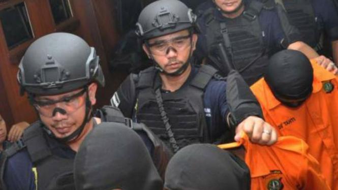 Ilustrasi penangkapan pelaku pembunuhan
