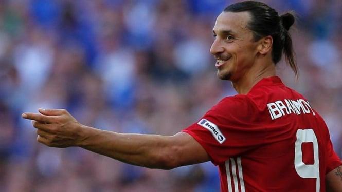Penyerang Manchester United, Zlatan Ibrahimovic
