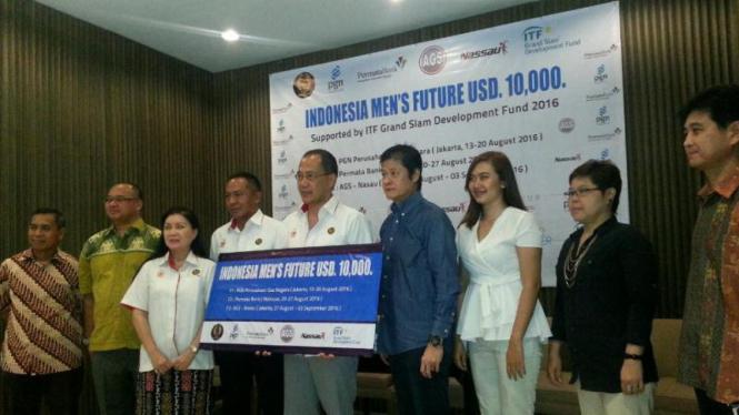 launching Turnamen Tenis Indonesia Men's Future 2016