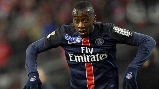 Gelandang Paris Saint-Germain (PSG), Blaise Matuidi.