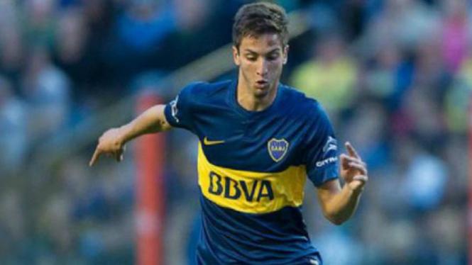 Pemain muda Boca Juniors, Rodrigo Bentancur.