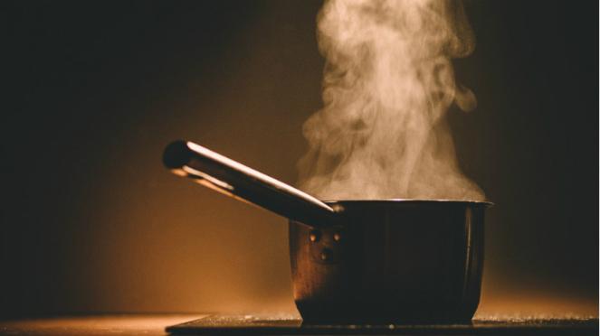 Ilustrasi memasak dengan gas