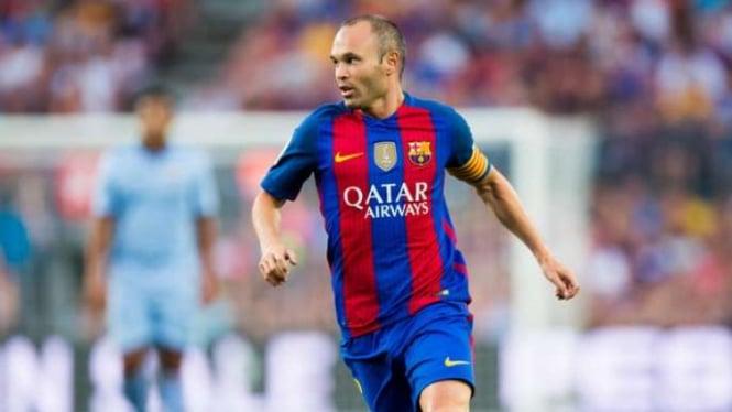 Pemain Barcelona, Andres Iniesta.