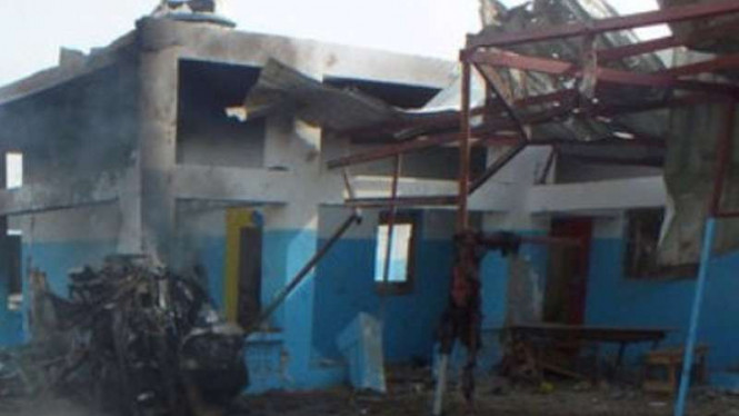 Kondisi rumah sakit di Yaman setelah dihantam bom.