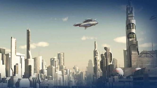 Konsep taksi terbang Airbus