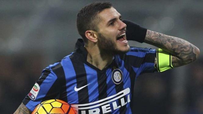 Penyerang Inter Milan, Mauro Icardi
