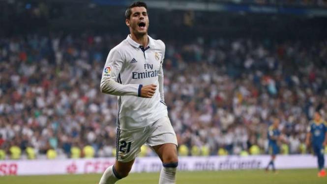 Penyerang Real Madrid, Alvaro Morata.