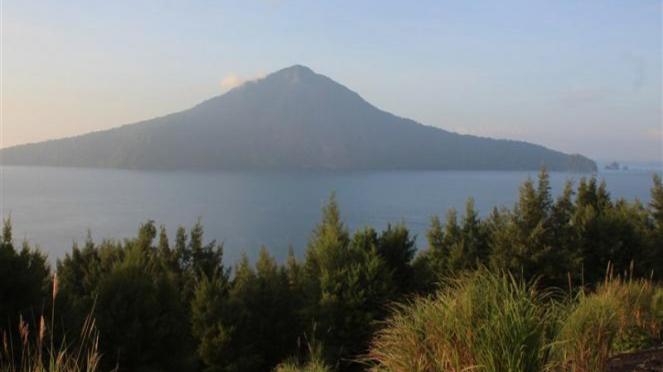 Gunung Krakatau, Lampung.